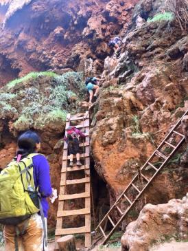 Only way down to Mooney Falls- No Joke!