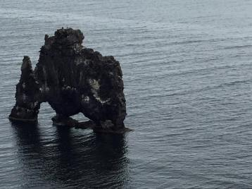 the unique lava rock formation of Hvitserkur located on Vatnsnes peninsula