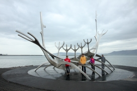Sculpture of Sun Voyager in Reykjavik
