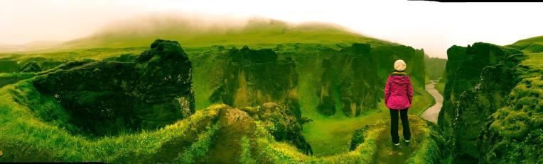Fjaðrárgljúfur, a beautiful canyon near Kirkjubaejarklaustur,