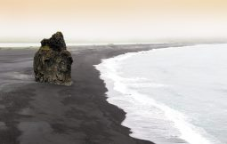 Reynisfjara shore- black sand beach of South Iceland