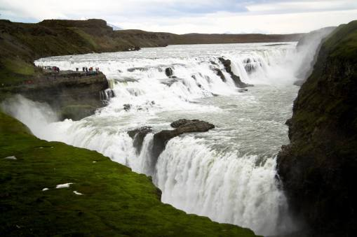 Gullfoss (one of the most popular waterfall located on Golden Circle)