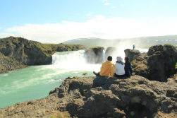 the Godafoss- one of the most spectacular waterfalls of the north
