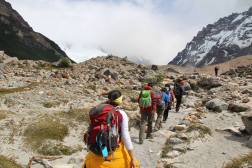 Trail to Laguna Torre from Poincenot Campgroud