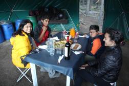 Delicious meals and Malbec at Poincenot Campgroud