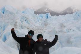 Trekking with crampons on the Perito Moreno Glacier